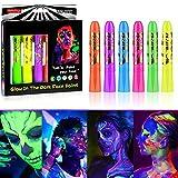 Luminous Crayons Face Paint,UV Fluorescent...