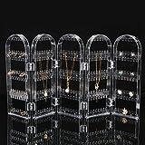 Tutoy 300 Löcher Clear Display Rack Stand Organizer Halter für Ohrringe Ohrstecker Halskette Schmuck