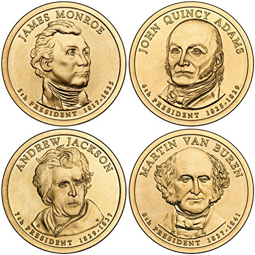 2008 D Complete Set of all 4 Presidential Dollars Uncirculated