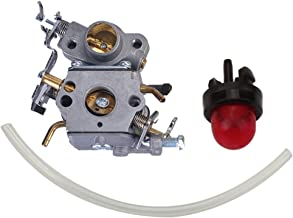 Hilom Carburetor for Poulan Craftsman Zama C1M-W26C 545070601 545040701 530035590 Chainsaw P3314 P3314WS PP3516 P3416 P4018 with Primer Bulb