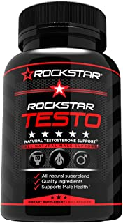 Rockstar Testosterone Booster, Healthy All Natural Energy- 60 Capsule
