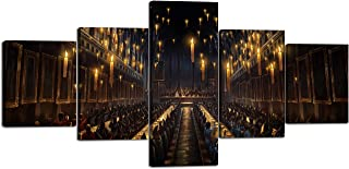 Yatsen Bridge 5 Piece Wall Art Magic School Painting Prints On Canvas The Subject of Harry Potter and The Goblet of Fire A...