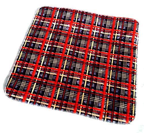 MEX-LINE Inkontinenz Stuhlauflage Design: Karogeflecht, Wasserdichte Sitzauflage/Sitzkissen/Nässeschutz, waschbar und wiederverwendbar, ca. 45 x 45 cm