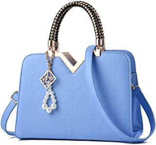 LHKFNU Elegant Women Top Handle Satchel Handbags Tote Purse Shoulder Bag Crossbody with Bead Pendant