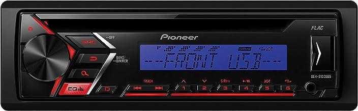 Pioneer Deh S100ubb 1din Autoradio Mit Roter Tastenbeleuchtung Display Blau Cd Tuner Mit Rds Mp3 Usb Aux Eingang Arc App Auto