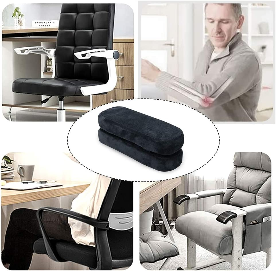Removable Durable Replacement Arm Pads Length-25cm 2 Set Polyester Removable Office Chair Armrest Covers Arm Rest Slipcovers