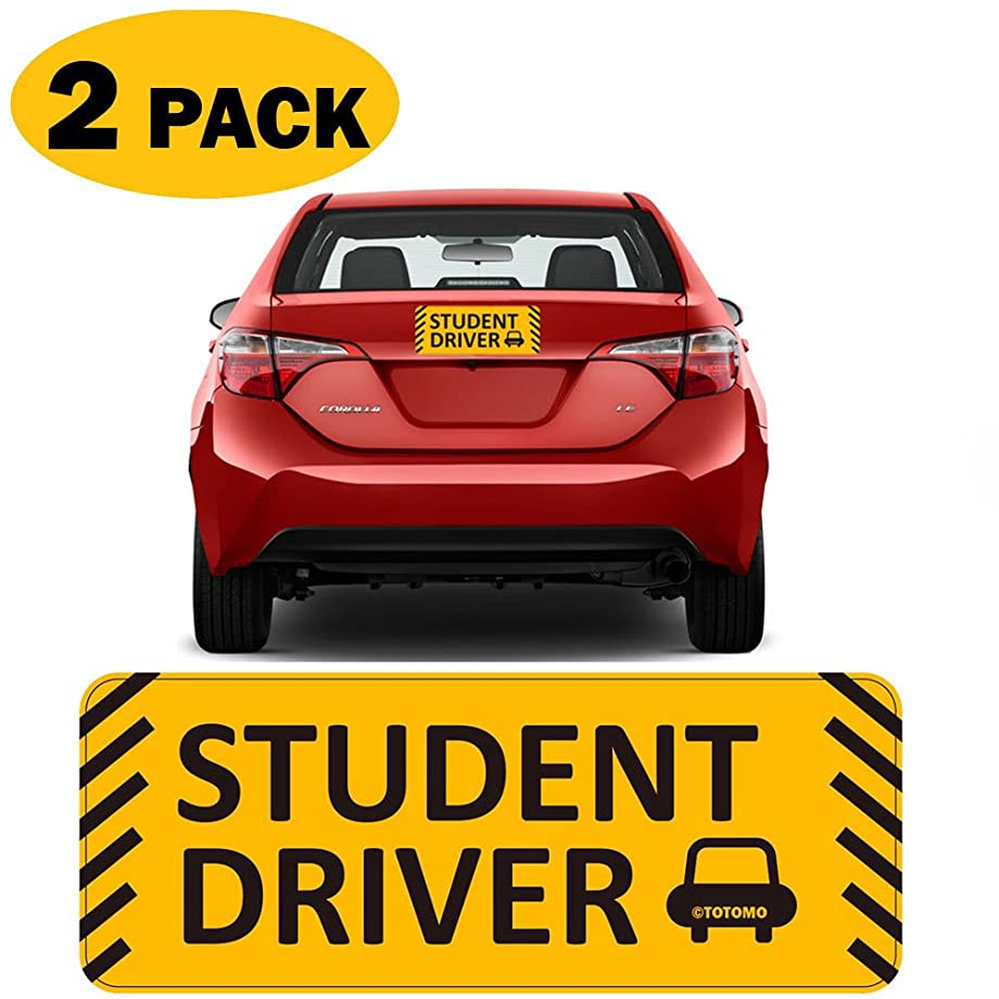 TOTOMO Student Driver Magnet Sticker - (Set of 2) 10