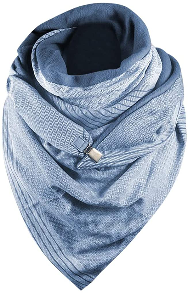 Women Warm Fashion Scarve, 2020 New Women Soild Printing Button Soft Wrap Casual Warm Scarves Shawls