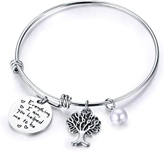 Family Tree Bracelet The Love Between Mother and Daughter is Forever Tree of Life Bracelet Mother Gift Bangle