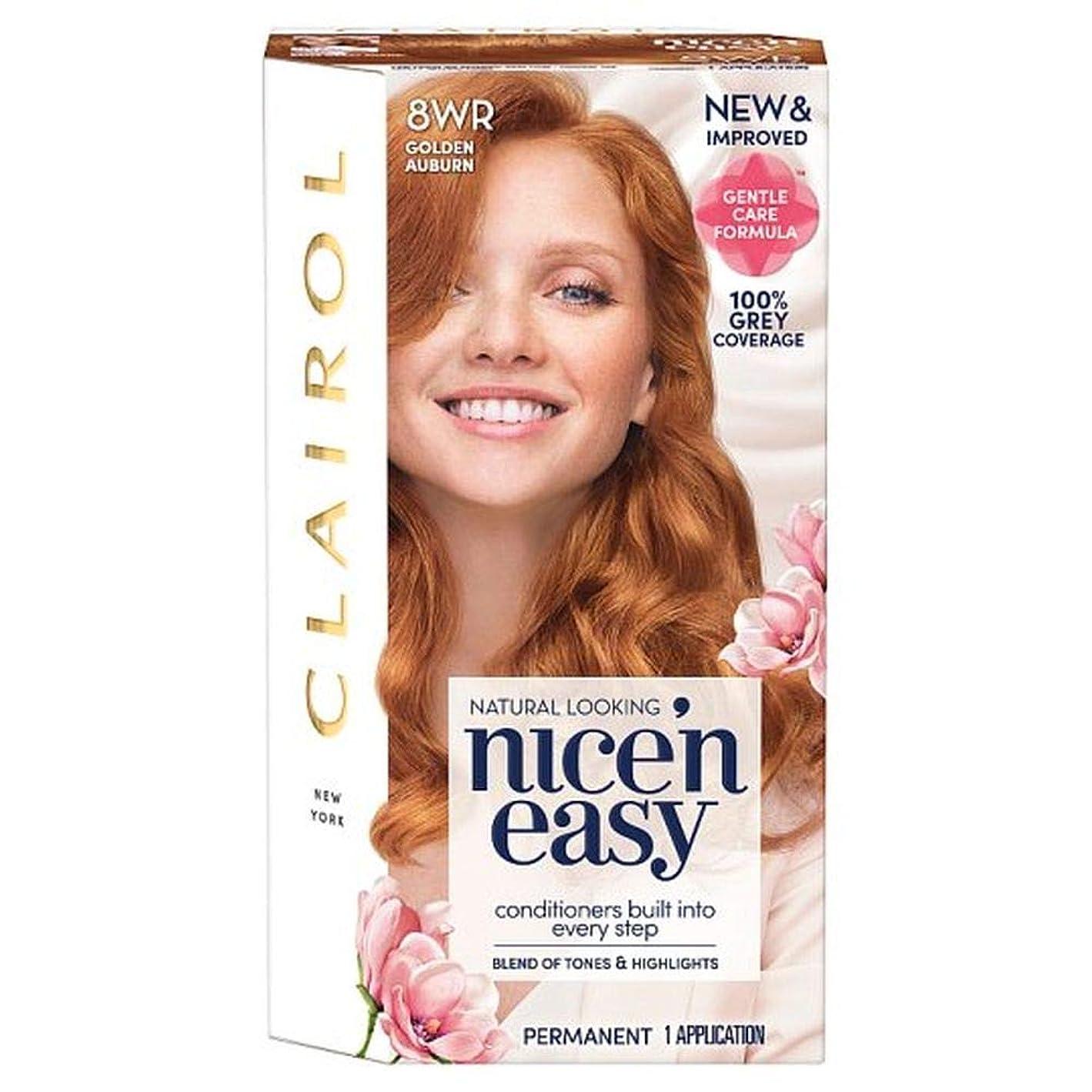 フォーカス毛皮正しく[Nice'n Easy] クレイロール素敵な「N簡単黄金赤褐色8Wr染毛剤 - Clairol Nice 'N Easy Golden Auburn 8Wr Hair Dye [並行輸入品]