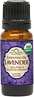 US Organic 100% Pure Lavender Essential Oil (Bulgarian) - USDA Certified Organic - 10 ml - w/Improved caps and droppers (M...