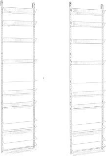 ClosetMaid 1233 Adjustable 8-Tier Wall and Door Rack, 18-Inch 2-Pack