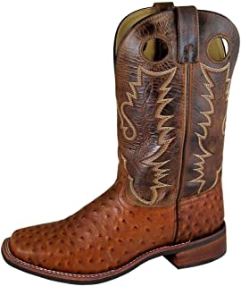 Smoky+Mountain+Men%27s+Danville+Pull+On+Sched+Textured+Square+Toe+Cognac%2fBrown+Crackle+Boots+7.5EE