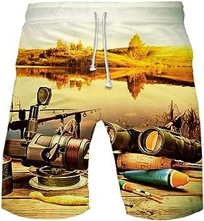FRAUIT Pantaloncini da Bagno da Uomo Asciugatura Rapida Costume Uomini Mare Spiaggia Piscina Pantaloncino Sportivi Calzonc...