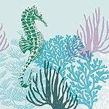 Ambiente Tovaglioli di carta a 3 strati, 33x 33cm–blu corallo