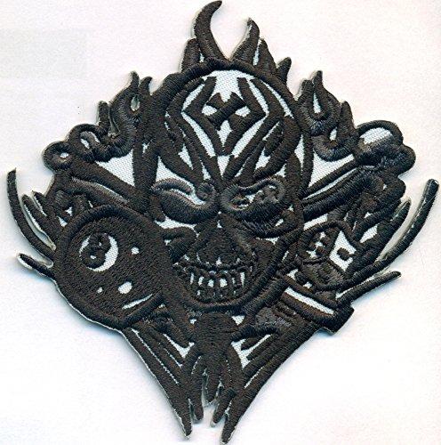8 Ball TRIBAL Tattoo Würfel Skull Head Totenkopf Rockabilly Biker Aufnäher Patch