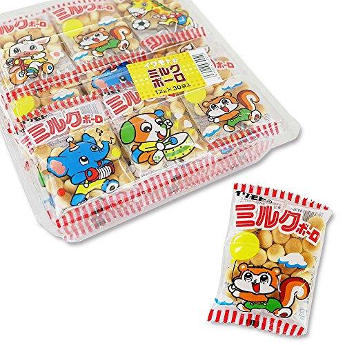 岩本 ミルクボーロ(30袋入)駄菓子 お菓子 ビスケット 幼児 景品 子供