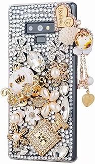 for Samsung Galaxy Note 9 Diamond Cover,Pumpkin Car Florets Design Luxury Bling Glitter Diamond Crystal Rhinestone Shining Gemstone Phone Case,NO1