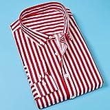 camicie uomo,camicia classica a righe tasca sul petto maschile strisce verticali uomo autunno manica lunga formale rosso camicia da lavoro superiore oversize per viaggi di piacere all'aria aperta vac