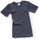 HERMKO 2681005 Camiseta de Manga Corta térmica para niños, Motivo de Rayas, Hecho de 67% algodón + 33% poliéster, Größe Kinder:1.5-2.0 años, Farbe Ringel:Marine Ringel