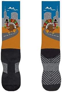Turkey Running Printed Mid Calf Socks | Running Socks by Gone For a Run | Multiple Designs & Sizes