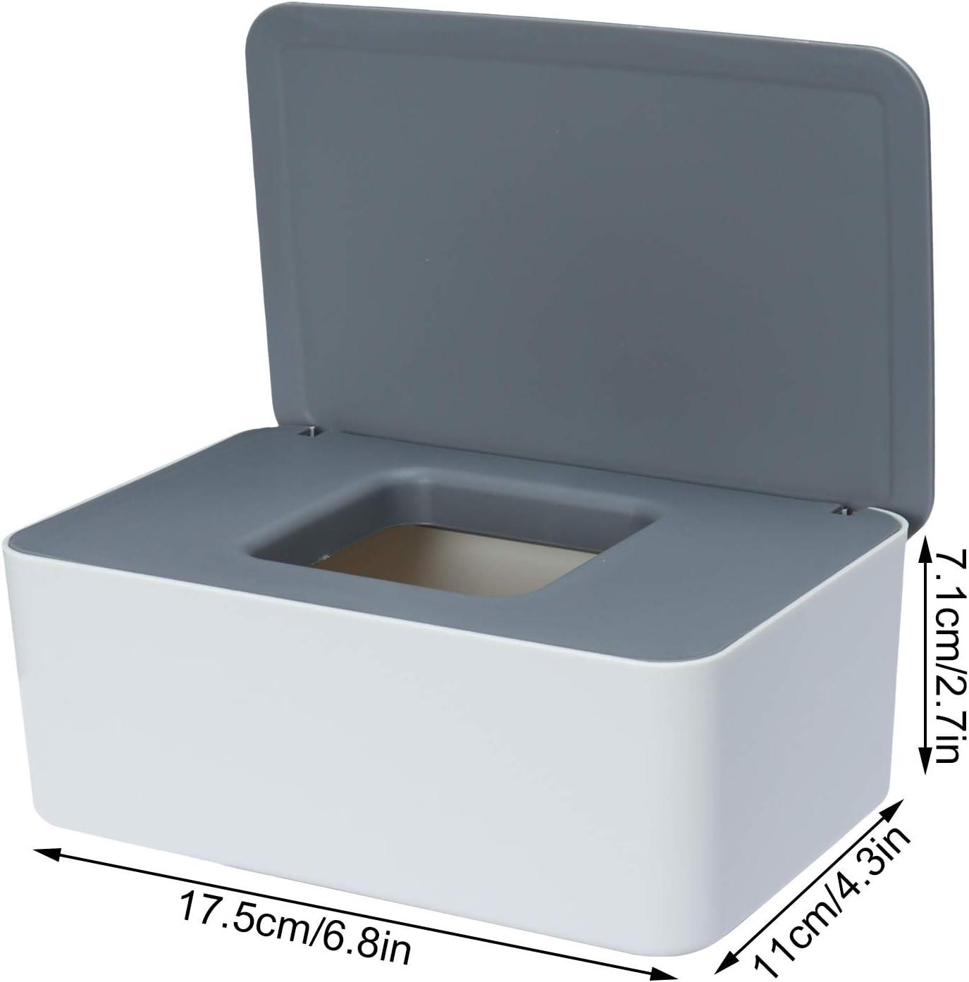 Sinwind Caja para Toallitas H/úmedas Toallitas Dispensador Caja de Pa/ñuelos Caja De Servilletas Caja de Almacenamiento de Pa/ñuelos con Tapa Azul-Blanco