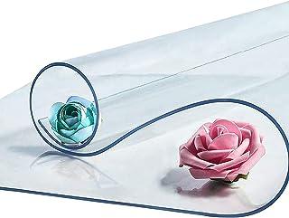 JXFS PVC Eco Friendly Tablecloth,Protection Table ou Meuble,Transparent,Facile à Nettoyer, éTanche,Postuler à Kitchen Picn...