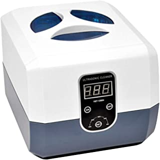 Ultrasonic cleaner jewellery cleaner 50W/40KHz/750ml,5 adjustable timings,transparent window suitable for cleaning denture...