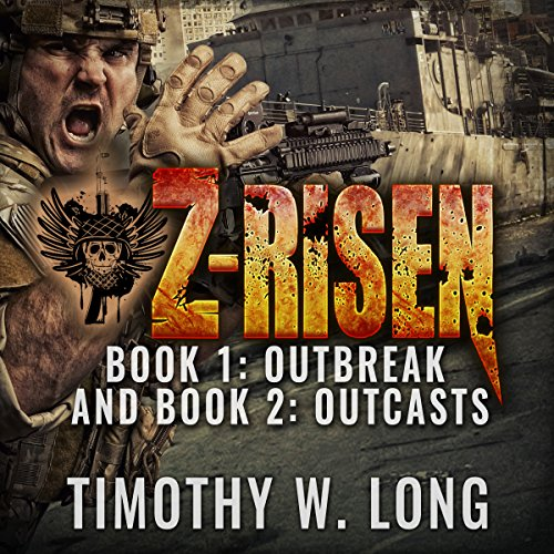 Z-Risen 1: Outbreak and Z-Risen 2: Outcasts  cover art