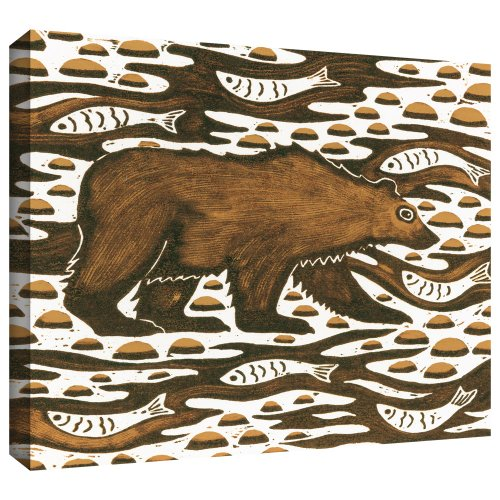 ArtWall Nat Morley 'Fishing Bear' - Lienzo de arte (35,5 x 45,7 cm)