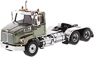 Diecast Masters Western Star 4700 SB Tandem Day Cab Tractor Metallic Olive Green 1/50 Diecast Model 71038