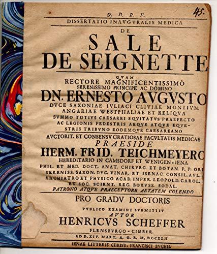 Medizinische Inaugural-Dissertation. De Sale de Seignette.