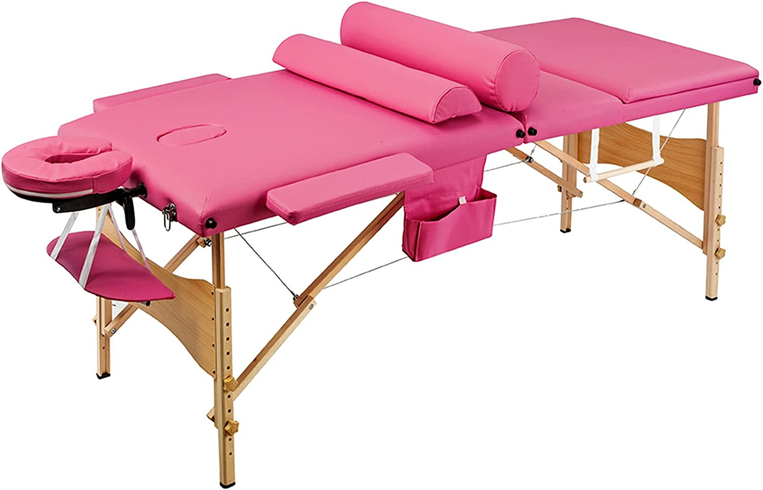 Tesmula Cheap bargain gt2-LC Max 55% OFF 3 Sections Folding Table Massage Beauty Portable