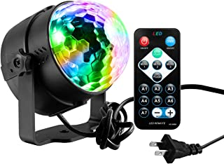 Disco Ball Lights,Yododo Sound Activated Party Lights with Remote Control DJ Lighting,Laser Lights,3W Disco Ball,Strobe Lights 7 Modes Stage Par Light for Wedding Show,Xmas,Karaoke,Club,Party,Holiday