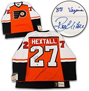 Ron Hextall Philadelphia Flyers Autographed Retro Fanatics Jersey with 87 Vezina Note