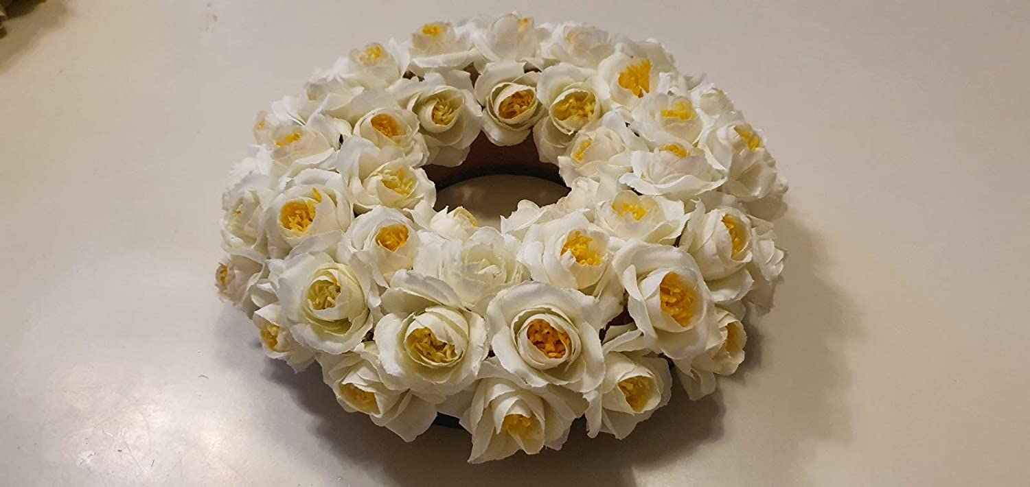Artificial White Wreath 55% Translated OFF Roses