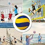 Qagazine Pelota de voleibol suave Touche para playa, voleibol, playa, voleibol, para interior y exterior, juego de partido, pelota oficial para niños y adultos