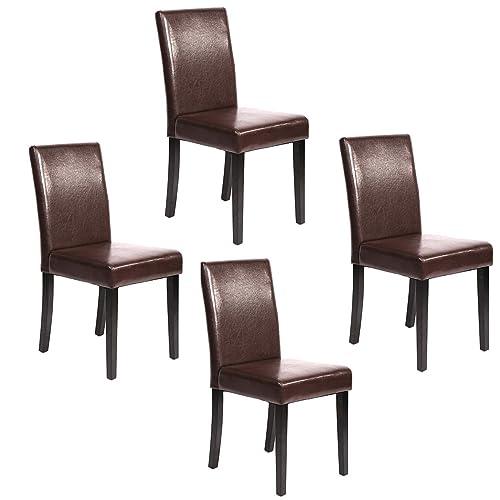Fantastic Leather Parson Chairs Amazon Com Creativecarmelina Interior Chair Design Creativecarmelinacom