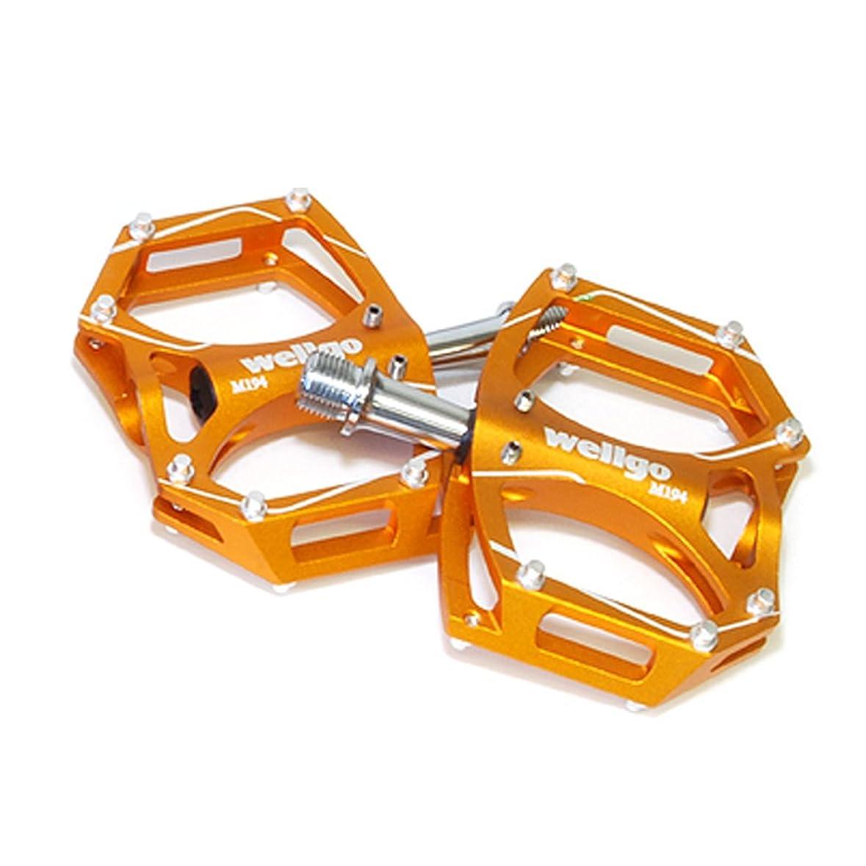 椅子落胆した実際にwellgo(ウェルゴ) M194 CNCアルミフラットペダル ゴールド 125-00023