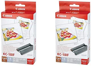 Canon 2 Pack Color Ink/Label Set KC-18IF Full Sized Label Set for CP Printers