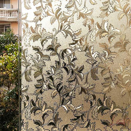 LMKJ Película de Ventana de privacidad Opaca Pegatina de Ventana 3D estática no Adhesiva Que Cubre la Ventana película de vitral película Decorativa de Vinilo para Ventana A169 60x100cm