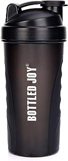 BOTTLED JOY Protein Shaker Bottle Shaker Water Bottle Sports Water Bottle Non-Toxic Wide Mouth 100% Leak Proof Shake Water...