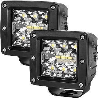 3 Inch LED Light Bar BEAMCORN 39W Cube Led Pods Spot Flood Combo Square Triple Row Off Road Lights Fog Driving Lights for Pickup Trucks Jeep ATV UTV SUV Packs of 2