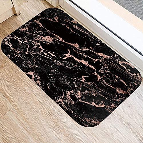 WWWL 2DD-48276-040 - Felpudo antideslizante para cocina, sala de estar, diseño de mármol