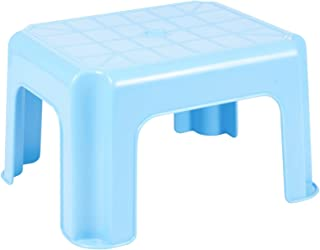 Easygift Products Multi Purpose Step Stool Sturdy Stackable Plastic Blue