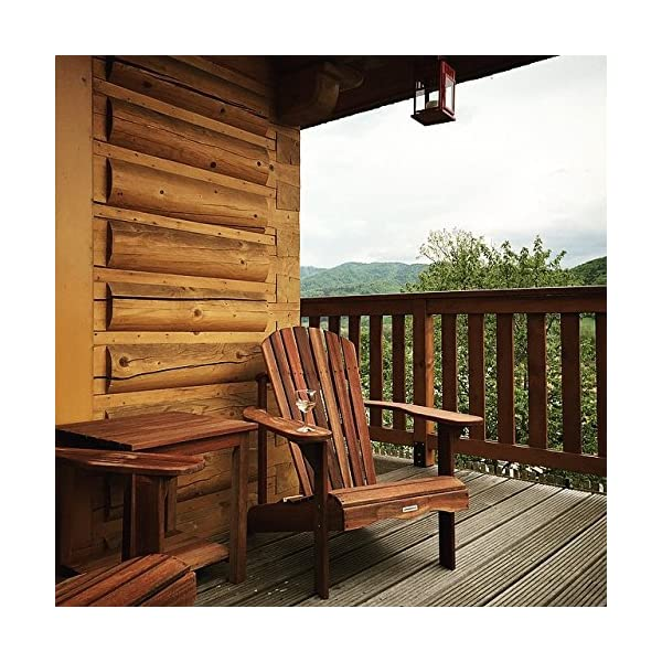 Adirondack Gartenstuhl, aus exklusivem Mahagoni Hartholz, geölt, Edelstahlverschraubungen