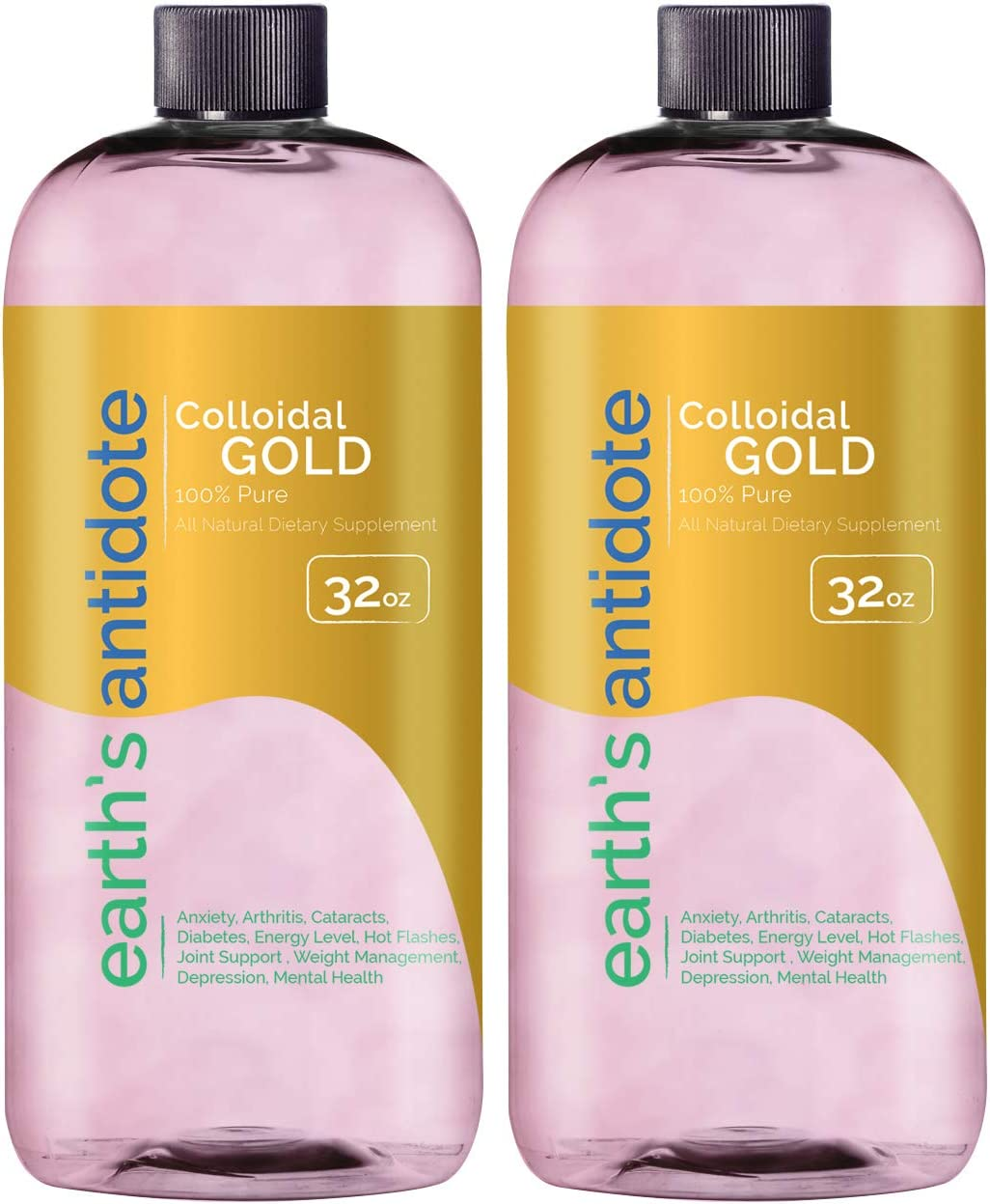 Earths We OFFer at cheap prices Antidote 1 year warranty Colloidal Gold 64oz