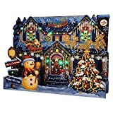 Miss Girlie Girl Illuminated Christmas Home Lights and 6 Music Pop Up Greeting Card with Replaceable Battery