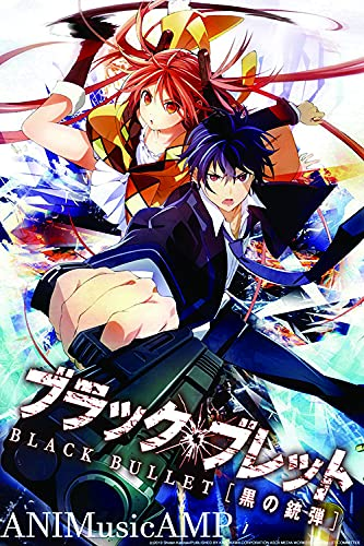 Black Bullet - Anime Poster Wall Art Living Room Posters Bedroom Painting 11x17 inch (28x43cm)