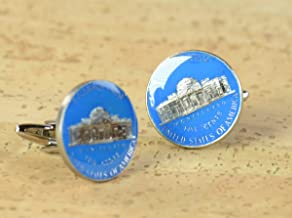 US Cufflinks 5 cents antique coin United States,Thomas Jefferson